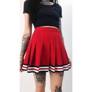 Vintage Pleated Cheer Skirt
